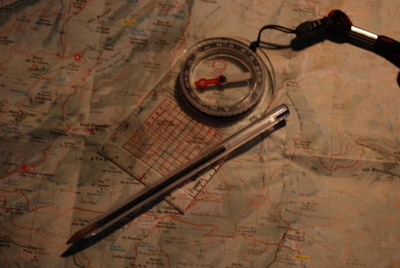 Curs intensiu d'Orientació a Muntanya: mapa i brúixola