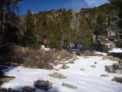 Estanys de la Pera: raquetes de neu
