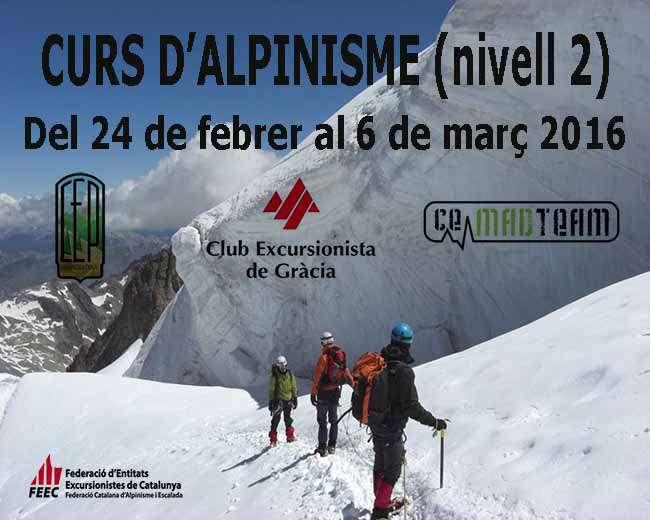 Curso de Alpinismo - nivel 2 (Curso Promoción FEEC 2016)